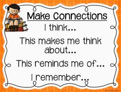 Rios Teaches: Making Connections to Text Freebie Making Connections Activities, Kindergarten Reading Activities, Reading Comprehension Strategies, Kindergarten Lessons, Literacy, Reading Workshop, Reading Skills, Guided Reading, Reading Response