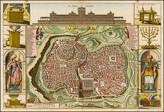 Stoopendaal's town plan ofJerusalem, 1720 #map #jerusalem