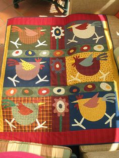 """Chicken Quilt"" by Charlie P : ), via Flickr"
