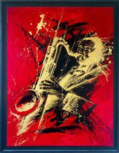 """Jazzman"" Peinture - VENDU - Pantonel"