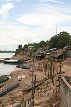 The banks of the Huallaga River, Yurimaguas, Amazon region, Peru
