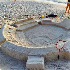 The only thing better than a sand castle is a baseball sand castle #baseball #beach