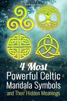 Celtic Mandala symbols and their meanings: The ancient Celts were extremely spiritual people who found deep symbolism in even the most basic things. Ancient Symbols Of Power, Ancient Protection Symbols, Celtic Symbols And Meanings, Spiritual Symbols, Protection Sigils, Spiritual People, Spiritual Awakening, Shaman Symbols, Witch Symbols