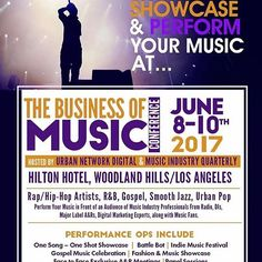 Reposting @fusicology: @urbannetworkdigital  Are you looking to perform your music in front of DJ's, Industry VIP's, tastemakers, radio programmers? You can do just that at the upcoming Business of Music Conference! DM me for showcase opportunities! #WoodlandHills #LA #Music #Entertainment #MusicBusiness #EntertainmentBusiness #Networking #Singer #Songwriter #Producer #RnB #Pop #HipHop #Rap #Gospel #Jazz #Urban  #Digital #Revolt #Complex #BET #TheFader #NewHipHop #Networking…