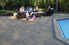 We're ready for the summer at NewLine Hardscapes.  The York Tile is the perfect choice for your pool deck.