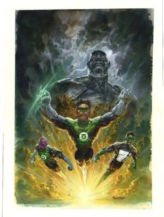 GREEN LANTERN TRAITOR TPB PAINTED COVER, in the June 2011: Green Lantern Comic Art Sketchbook