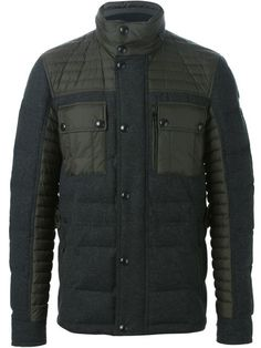 Shop Belstaff panelled padded jacket  in Al Duca d'Aosta from the world's best independent boutiques at farfetch.com. Shop 300 boutiques at one address.