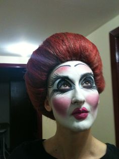 Stage make-up for Le Compagnie d'Orient :)