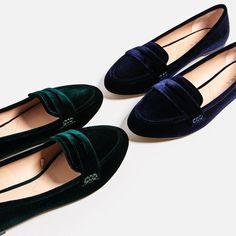 Zara Velvet Flats Brand New Velvet Slippers, Velvet Shoes, Oxfords, Loafer Shoes, Sock Shoes, Shoe Boots, Vegan Shoes, Zara Shoes, Loafers For Women