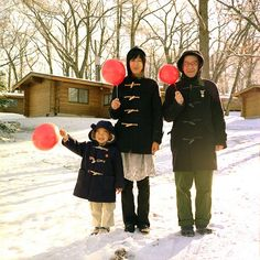 Akihiro Furuta's family portrait.