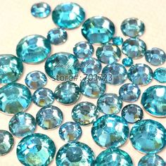 Find More Rhinestones & Decorations Information about 1000 pcs 2mm   6mm Mix Size Lake Blue 14 Facets Resin Round Rhinestone Sparkling Rhinestones Nail Art Decoration DIY N08,High Quality nail art decoration,China nail art decorations shop Suppliers, Cheap nail art decoration kit from Lady Nail on Aliexpress.com