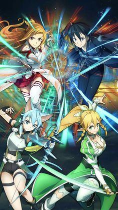 Asuna Yuuki | Kirigaya Kazuto | Asada Shino | Kirigaya Suguha |Sword Art Online