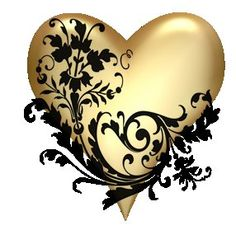 Image result for little black and gold hearts pics