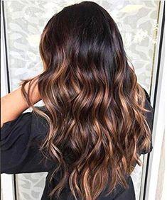Dark Brunette Balayage Hair, Brunette Color, Hair Color Balayage, Balayage On Black Hair, Balyage Long Hair, Asian Balayage, Auburn Hair Balayage, Fall Balayage, Long Brunette Hair