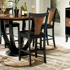 Special Offers - Coaster Home Furnishings 102099 Casual Counter Height Chair Black and Cherry/Black Set of 2 - In stock & Free Shipping. You can save more money! Check It (May 31 2016 at 05:30AM) >> http://kitchenislandusa.net/coaster-home-furnishings-102099-casual-counter-height-chair-black-and-cherryblack-set-of-2/