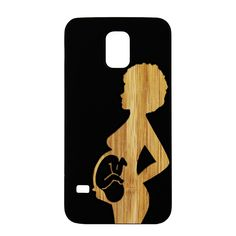 Miracle Of Life, Pregnant Woman Black Wood Case