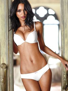 Bra and panties #fashion #lingerie Lais Ribeiro Victorias Secret