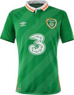 アイルランド代表2016シーズン ホーム用ユニフォーム。 UEFA EURO2016大会着用モデル。
