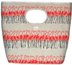 Lulu Guinness Flamingo Handbag - my bag for the day - with the matching shoes :)