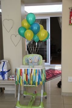 high chair banner for baby's birthday
