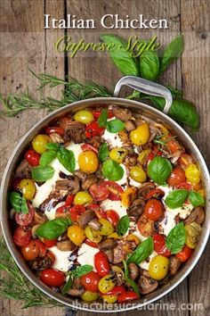 Italian Chicken Caprese - comes together in under an hour! It's so fresh and full of flavor!