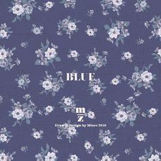 mizeedraw / blue / flower / pattern