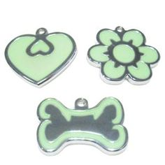Glow-In-The-Dark Pet Dog Tag - With Engraving