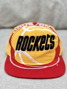 VTG 90 s Houston Rockets The Game BIG LOGO Snapback Hat Cap nba   VERY RARE    please retweet 6e8e6706f072