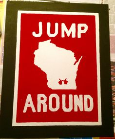 Hand painted Wisconsin badgers canvas.  #wisconsin #badgers #canvas #painting #jumparound #college
