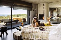 Areias do Seixo Charm Hotel is the realisation of the dream of the owners Marta and Gonçalo. Designed by Arquimais Architecture Triangle House, Bed In Closet, Ocean Front Property, Interior Architecture, Interior Design, Hotels, Eclectic Design, White Bedding, Home Furniture
