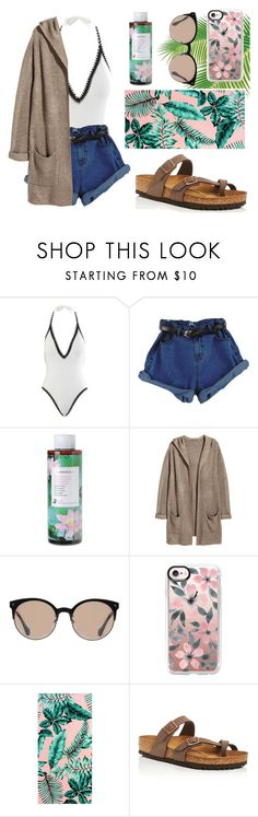 """""""Summer Escape"""" by foodiefashion ❤ liked on Polyvore featuring Seafolly, Korres, H&M, Balenciaga, Casetify, PBteen, Birkenstock, ootd, swimsuit and 2017"""