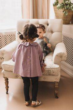 Items similar to Ready To Ship months Purple Tunic Shirt with Ruffles, Baby blouse, Toddler Boho tunic, Cute Ruffles Tunic as Birthday outfit on Etsy Little Girl Fashion, Toddler Fashion, Toddler Outfits, Kids Outfits, Kids Fashion, Chubby Fashion, Fashion Hacks, Spring Fashion, Style Fashion
