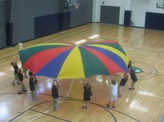 Parachute day in gym class = BEST DAY EVER...well that and Oregon Trail day :)