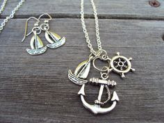 Nautical Necklace Sailor Charm Necklace Charm by IvysBoutique, $15.00