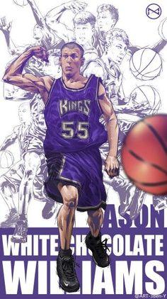 c8ca31baf Sacramento Kings · Jason Williams Illustration Basketball Posters