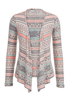Patterned open front cardigan (original price, $29) available at #Maurices