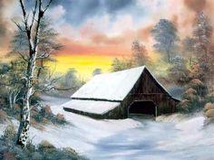 bob ross paintings for sale   Bob Ross landscape painting 2 - oil painting - Art Paintings