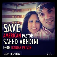 A really cool thing is happening today... A prayer vigil for Pastor Saeed, who has been put in a terrible prison in Iran for his faith. Please look at the following link to see if there's a vigil in your area, and if not, I encourage you to take some time and pray for him tomorrow, no matter where you're at. http://savesaeed.org/vigil   (That's the link to vigils). Also, here's a really neat video about it: http://www.youtube.com/watch?v=JPqxt79RGfQ  Save American Pastor Saeed Abedini!!