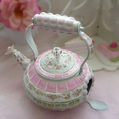 Shabby Hanging Teapot Mosaic Birdhouse