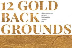 + 12 Gold backgrounds & textures + by OLEG & KATE on @creativemarket