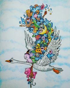 Flying doodles