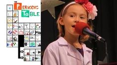 6 year old singing the periodic table of Elements !!