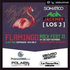 #Repost @sedrummer with @repostapp  Ahora si se prendió esto sera el 24 recuerden! 4 bandas increíbles en el Auditorio del @cevaz_zulia #LasMercedes  @aca_aca_aca_ @losjbanda @somaticove y @jackmerofficial  Desde las 5:30pm (Exactos)  Esta semana info de como adquirir las entradas  Patrocinado por: @elsgtopimienta @procuraweb @lafavoritave  #Polaris #Rock #Live #cevaz #Maracaibo #Venezuela #Jackmer #Somatico #acá #LosJ #Cevaz