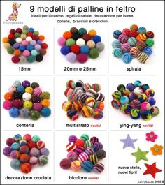 Perle in #feltro, come realizzarle - how to make #felted beads