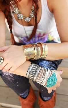 MIXED METAL WOVEN CUFF - Junk GYpSy co.
