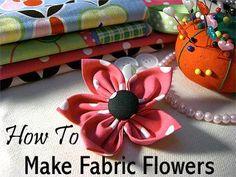 Dog Collar Fabric Flowers - Instructiona