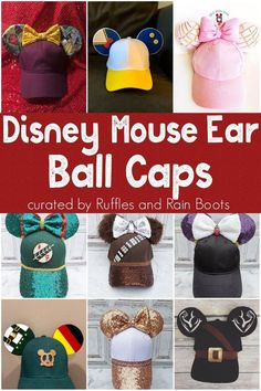 These Disney Mouse Ear Caps are Perfect for Disney Vacation - Trend Charakter Design Cartoon 2019 Diy Mickey Mouse Ears, Mickey Mouse Headband, Disney Ears Headband, Disney Mickey Ears, Cute Disney, Disney Bows, Micky Ears, Disney Headbands, Disney Hair