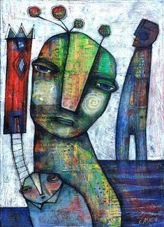 Bee of Peace by Dan Casado outsider folk art