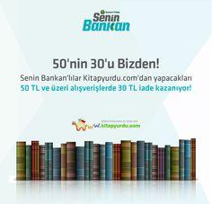 Senin Bankan'lılar Kitapyurdu.com'dan yapacakları 50 TL ve üzeri alışverişlerde 30 TL iade kazanıyor! Detaylı bilgi için; https://www.seninbankan.com.tr/kampanyalar/kitapyurdunda-50-tlye-30-tl-iade.6.aspx