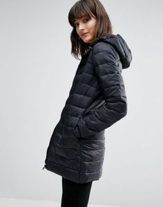 JDY Mash Tube Quilted Hooded Jacket